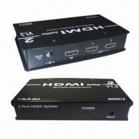 HDMI Splitters with Aluminum Casing, Support HDCP-compliant Devices for sale