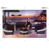 Quality high class rattan sofa wicker luxury hotel sofa garden sofa set for sale