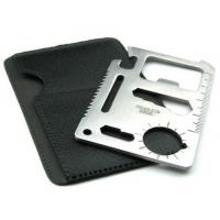 Quality 11-Function Stainless Steel Credit Card Size Survival Pocket Tool Knives for sale