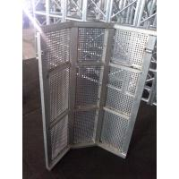Buy Security Crowd Safety Barriers Silver Temporary Road Barriers For Outdoor Party at wholesale prices