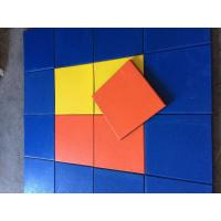 Quality Play Ground Outdoor Rubber Mats Multicolor Square Tile 500x500x(15-50)Mm for sale