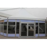 China Octagonal Glass Wedding Party Tent , Outside Party Tents SGS Approved for sale