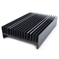Quality Powder painted Aluminium Heatsink Extrusions Black With CNC Machining for sale