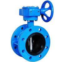Quality worm gear operated double flange butterfly valve for sale