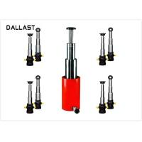 Quality 3 / 4 Stage Telescopic Hydraulic Ram / Single Acting Hydraulic Cylinders for Dump Truck for sale