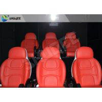 Quality Hydraulic Dynamic 5D Theater System Red Motion Chairs With Special Effect for sale
