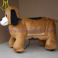 Quality Hansel coin operated walking dog plush motorized animals for sale