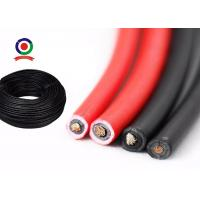 Good Cold Flexibility Single Core Solar Cable , DC Solar System Cable TUV Approved