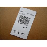 Quality White Clothing Brand Tags / Paper Garment Hang Tags For Clothing for sale