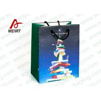 Quality CMYK Printing Holiday Christmas Paper Bags For Candy Shop OEM / ODM Avaliable for sale