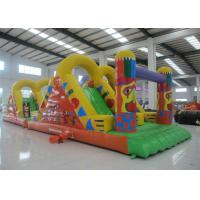 Quality Amusement Park Inflatable Obstacle Courses 0.55mm Pvc Tarpaulin 12 X 3.8 X 3.5m for sale