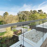 Quality Balcony Tempered frameless glass balustrade channel with Stainless Steel for sale