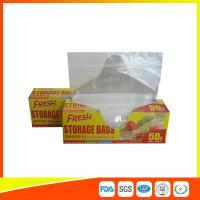 Quality Food Preservation Freezer Zip Lock Bags Reusable For Home / Supermarket Use for sale