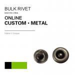 Quality Small Size Jeans Pocket Custom Logo / Brass Metal Jeans Rivet / Bulk Rivet 2 Parts Leather Clothing for sale