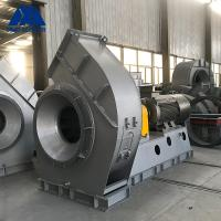 China 16Mn Coupling Driving Drying Dynamic Balanced Flue Gas Fan on sale