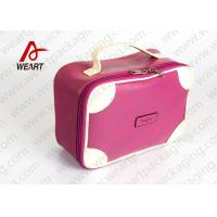 Quality Matte Lamination Leather Pink Customized Paper Box With Handle OEM /ODM Avaliable for sale