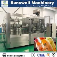 Quality Automatic Fresh Fruit Juice Hot Filling Machine For Washing Filling And Capping for sale