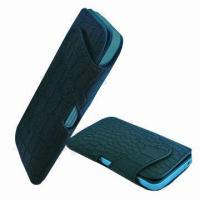 Quality Mobile Phone Leather Pouches/Cover/Case, High-quality Embossed Croco Leather for sale