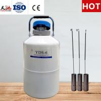 Quality TIANCHI Liquid Nitrogen Container 6L Industrial Storage Tank With Straps Carry Bag for sale