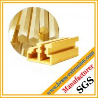 Quality copper alloy brass extrusions profiles for window and door for sale