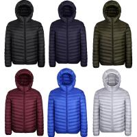 Quality Mens Plain 90% Duck Down Waterproof Puffer Jacket With Hood Lightweight for sale