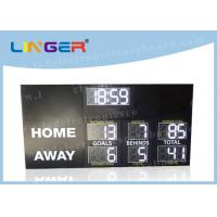 Quality High Brightness Electronic Football Scoreboard Clock With Installation Brackets for sale