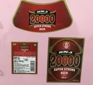 Quality CMYK Removing Beer Bottle Labels Custom Beer Label Maker Square Oval Shape for sale