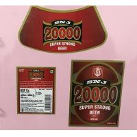 Quality Custom Made Self Adhesive Beer Labels Square Matte / Glossy Lamination for sale