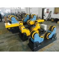 Quality 40 T Steel / Rubber Pipe Welding Rotator with Remote Hand Control Box 3kw Motor Power for sale