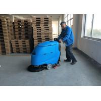 Quality Blue Color Battery Floor Scrubber / Full Automatic Floor Cleaning Equipment for sale