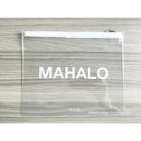 Buy cheap Transparent PVC Vinyl Resuable Zipper Bags 19*23 CM for Lady Travel from wholesalers