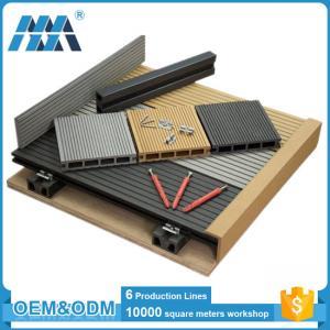 China factory waterproof balcony flooring wood plastic composite decking tiles on sale