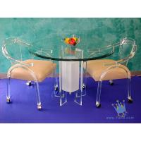 Quality FU (68) acrylic counter height dining set for sale