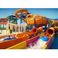 Quality Large Water Theme Park Equipment Fiberglass Slide Galvanized Carbon Steel Columns for sale