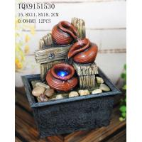 Quality Polyresin Indoor Tabletop Fountains , Decorative Water Fountains Pot Shaped for sale