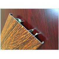 Quality Flat Open Wood Finish Aluminium Profiles 6005 / 6063 Strong Robustness For Window for sale
