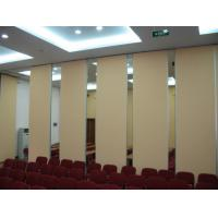 Buy cheap Melamine Acoustic Sliding Partition Walls Fire and Sound Resistant from wholesalers