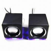 Quality 2.0 Mini Speaker with LED Light and Fashionable Design for sale