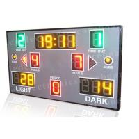 Quality Red Green Yellow Color Portable Electronic Basketball Scoreboard For College for sale
