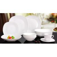 China square shape porcelain/new bone dinner plate/12/20/30pieces dinnerware sets for sale
