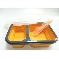 Quality Collapsible Silicone Lunch Containers , Lunch Box Containers With Compartments for sale