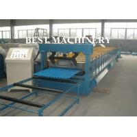 Quality Corrugated Zinc Coated Metal Sheet Roof Roll Forming Machine Electrical System for sale