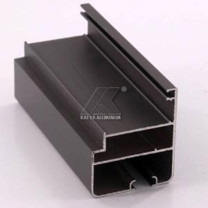 Quality OEM Extruded Aluminum Profiles , Window Aluminum Profile Black Powder Coating for sale