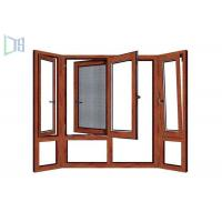 Buy cheap Wooden Color Swing Open style Aluminum Hinged Window With Fly Screen from wholesalers