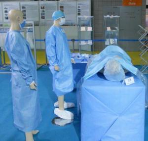 Buy SMS Non woen fabric/100% Polypropylene SMS non woven fabric for hosital/non at wholesale prices
