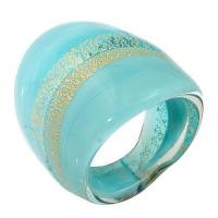 Quality Engagement antique Murano glass cocktail rings kids jewellery heart pendants wholesale for sale