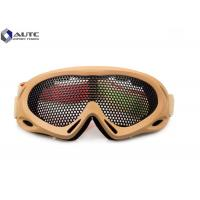 Quality Strechable Tactical Military Goggles , Tactical Shooting Glasses Air Ventilation for sale