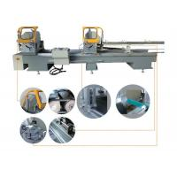 China CNC Auto UPVC Window Machine Double Head Cut Off Saw Machine 135x300mm Scale on sale