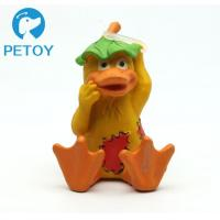 Quality Fashionable Funny Squeaky Rubber Duck Dog Toy Customized Color Unique Design for sale