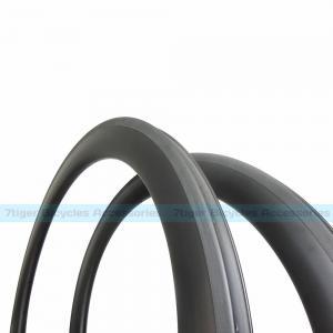Quality 7-tiger Bike 60 x 25 mm basalt brake carbon Clincher road rims ud weave matte U shape bicycle wheels for sale